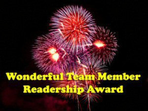 Thank you Dezi & Lexi for the Wonderful Team Member Readership Award.
